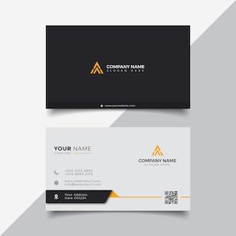 Modelo de design de cartão de visita moderno laranja elegante profissional
