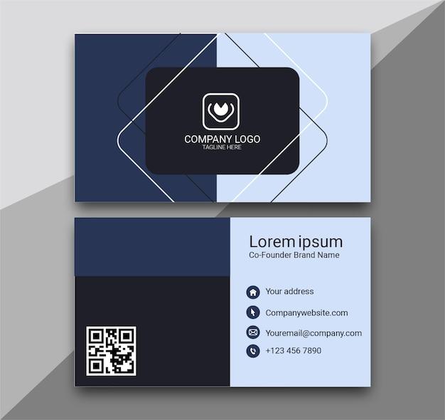 Modelo de design de cartão de visita moderno profissional