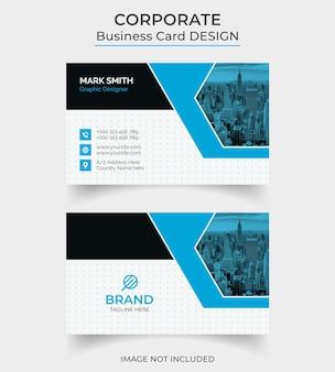 Modelo de design de cartão de visita moderno