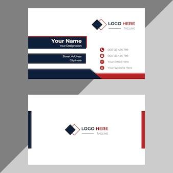 Modelo de design de cartão de visita pessoal criativo