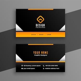 Modelo de design de cartão de visita profissional elegante