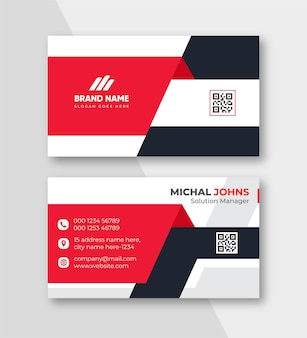 Modelo de design de cartão de visita profissional