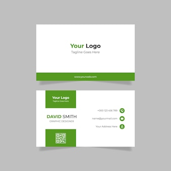 Modelo de design de cartão de visita verde