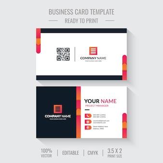 Modelo de design de cartão de visita Vetor Premium