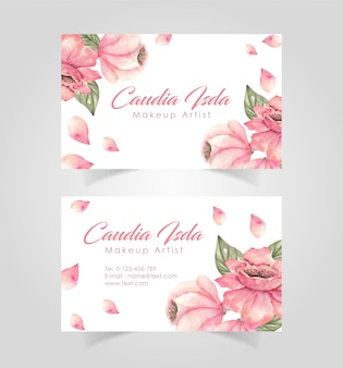 Modelo de design de cartão floral
