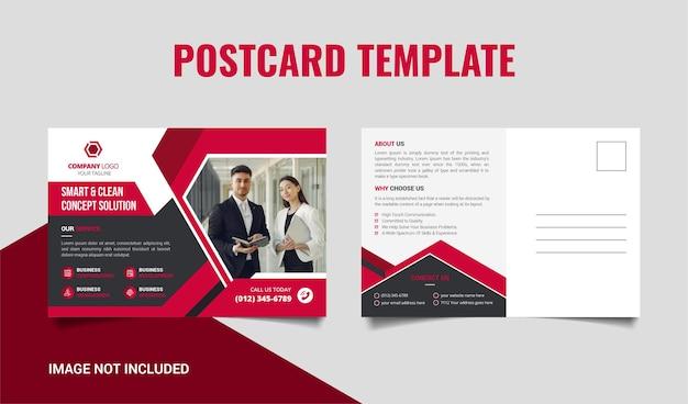 Modelo de design de cartão postal corporativo moderno criativo premium