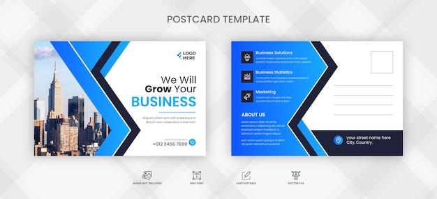 Modelo de design de cartão postal corporativo