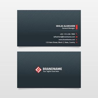 Modelo de design de cartão preto corporativo moderno