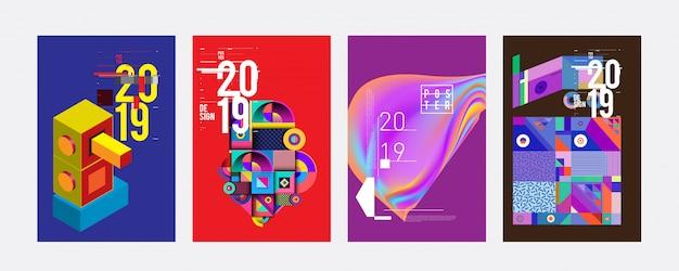 Modelo de design de cartaz de 2019