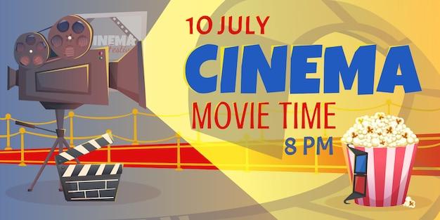 Modelo de design de cartaz de cinema e filme
