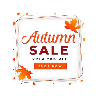 Modelo de design de cartaz de venda outono