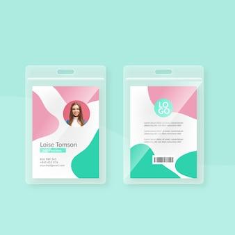 Modelo de design de cartões de identificação mínimos