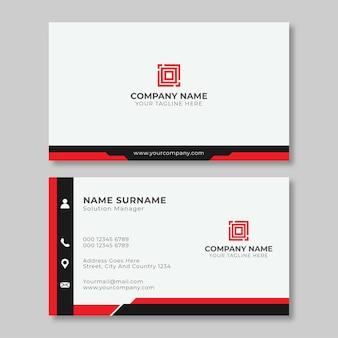 Modelo de design de cartões de visita simples e moderno