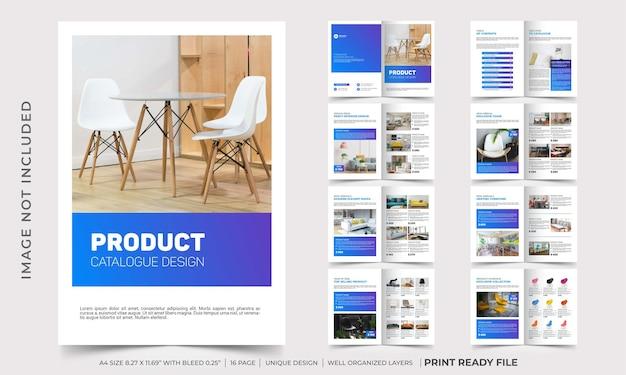 Modelo de design de catálogo de produtos da empresa, design de folheto de catálogo de móveis