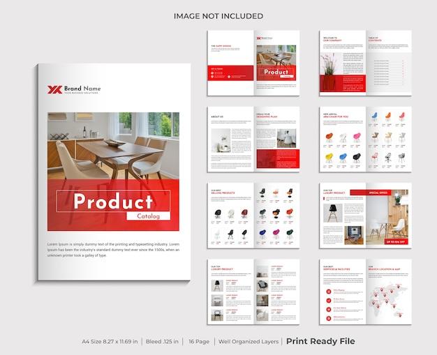Modelo de design de catálogo de produtos da empresa