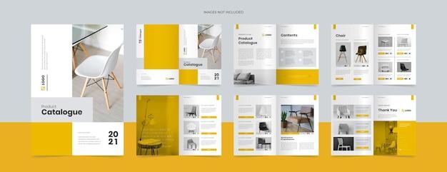 Modelo de design de catálogo de produtos moderno
