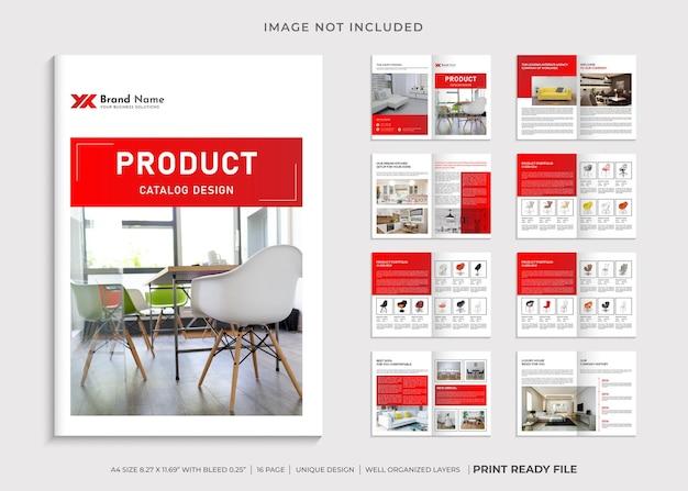 Modelo de design de catálogo de produtos
