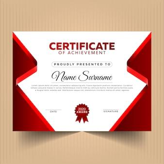 Modelo de design de certificado abstrato
