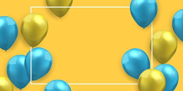 Modelo de design de conceito de balões de cor