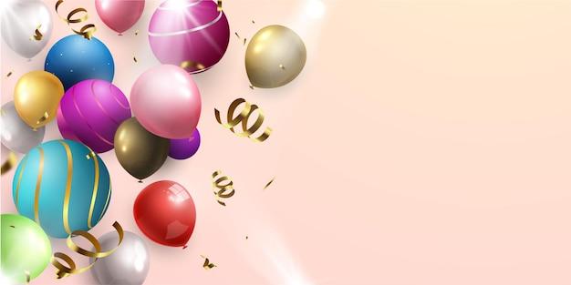 Modelo de design de conceito de balões