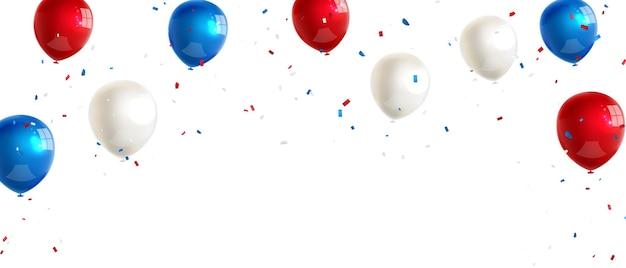Modelo de design de conceito de confete feriado feliz dia