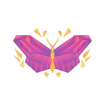 Modelo de design de conceito de logotipo de vetor de borboleta gradiente colorido criativo
