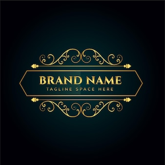 Modelo de design de conceito de logotipo ornamental elegante
