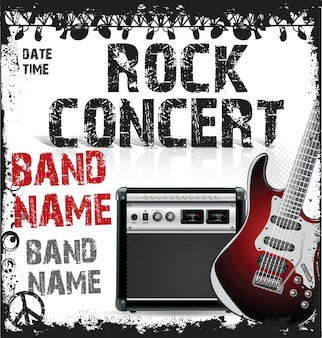 Modelo de design de concerto de rock