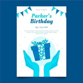 Modelo de design de convite de aniversário