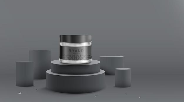 Modelo de design de cosméticos e embalagens