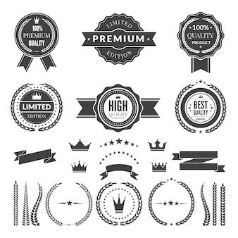Modelo de design de crachás premium ou logotipos