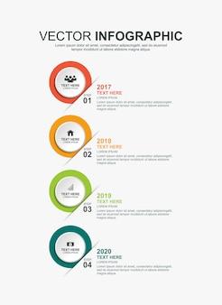 Modelo de design de cronograma de infográficos
