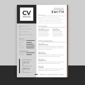 Modelo de design de cv