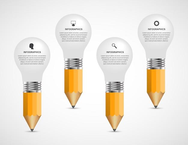 Modelo de design de educação infográficos.