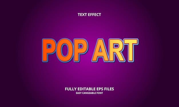 Modelo de design de efeito de texto pop art