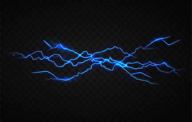 Modelo de design de efeito visual de eletricidade realista