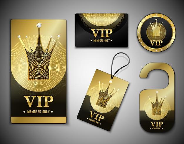 Modelo de design de elementos de membro vip