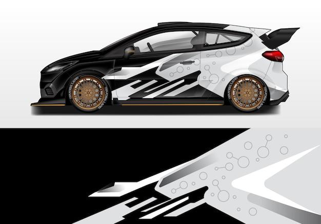 Modelo de design de envoltório de carro e impressão pronta