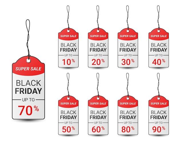 Modelo de design de etiqueta de preço da black friday para promoção