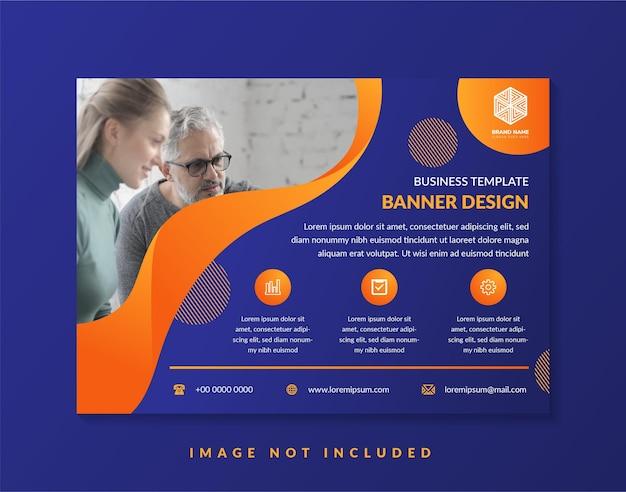 Modelo de design de folheto abstrato para programa de negócios