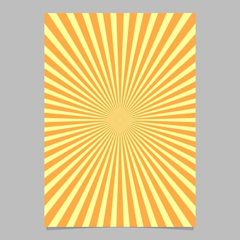 Modelo de design de folheto abstrato sunburst