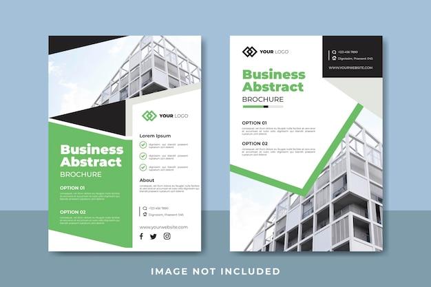Modelo de design de folheto abstrato