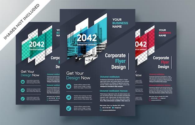 Modelo de design de folheto comercial