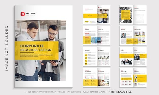 Modelo de design de folheto corporativo, modelo de folheto de perfil da empresa