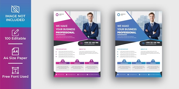 Modelo de design de folheto corporativo profissional para negócios