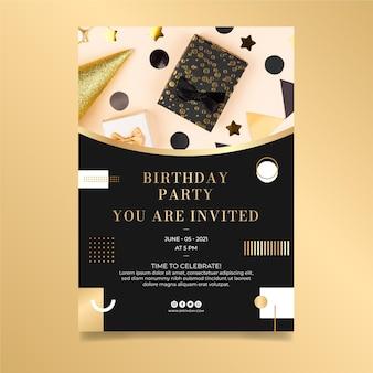 Modelo de design de folheto de aniversário