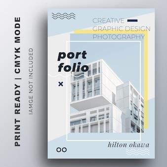 Modelo de design de folheto de apresentação de portfólio