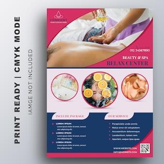 Modelo de design de folheto de beleza & spa