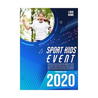 Modelo de design de folheto de evento esportivo