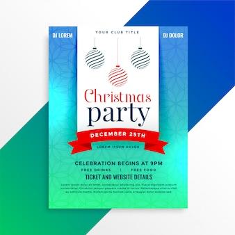 Modelo de design de folheto de festa de natal